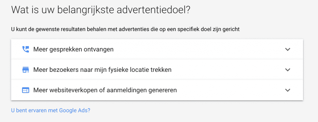 Wat is het advertentiedoel - Google